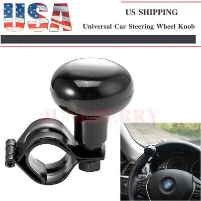 Black Auto Heavy Duty Suicide Knob Car Steering Wheel Spinner Handle Universal