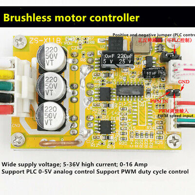 Bldc Three-phase Dc Brushless With Hall Motor Controller High Power Plc