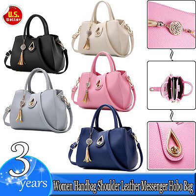 Women Leather Handbag Shoulder Casual Bag Messenger Satchel Tote Crossbody Purse