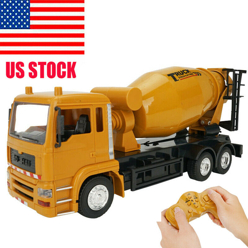 2020 1/24 RC Dump Truck Cement Mixer Engineering Truck 360° Rotation With Music