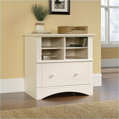 Pemberly Row 1 Drawer Lateral Wood File Cabinet In Antique White