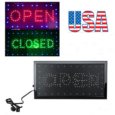 Us Ship 2in1 Openclosed Led Sign Store Shop Display Neon Light 9.820.47 Size