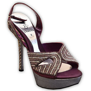 Pre-owned purple high heels