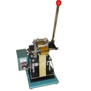 Hot Foil Stamping Machine Emboss PVC ID Card Letter Press Printing DIY LOGO 010000