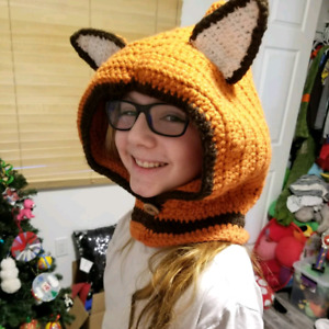 Fox Hoodie Hat or Other Animal