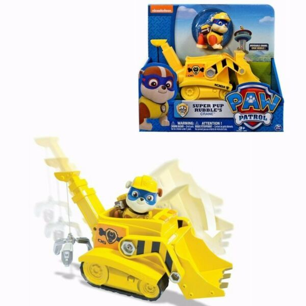 BNIB: Paw Patrol Super Pup Rubble's Crane, Vehicle and Figure