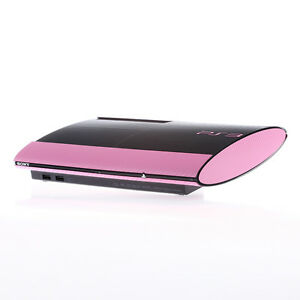 Textured Pink Carbon Fibre Playstation PS3 Super Slim Decal skin cover wrap