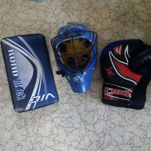 Blocker, Trapper and Goalie Mask