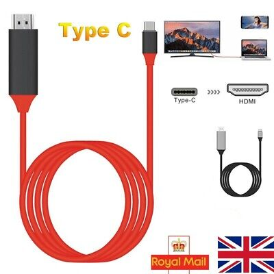 Type C to HDMI TV Cable Converter USB-C 4K Adapter For Huawei P30 P20 Mate 20 UK