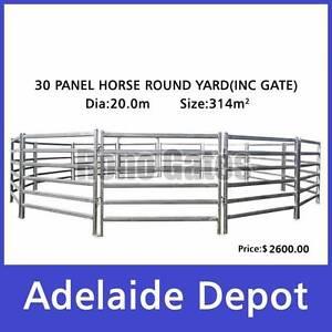 20m Dia. Horse Round Yard Cattle Panels 30pcs Incl. Gate. Ferryden Park Port Adelaide Area Preview