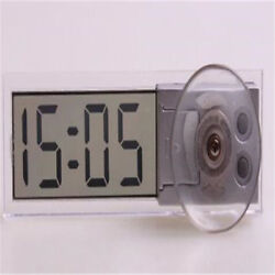 LCD Electronic Transparent Digital Wall Clocks Schedule Automotive Accessories