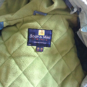 Souris Mini snow suits for boys size 30 months and winter boots