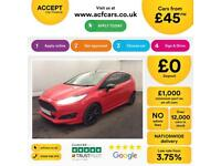 Ford Fiesta 1.0, 1.2, 1.4, EcoBoost Titanium Zetec RED, 3dr FROM £45 PER WEEK