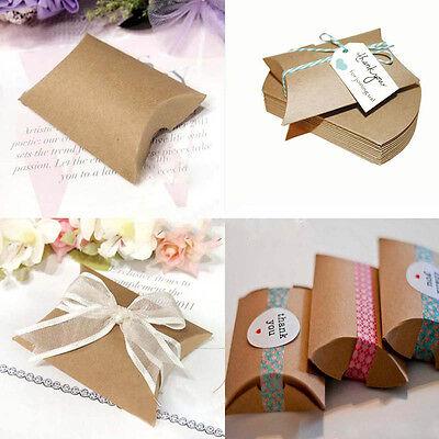 20/50pcs Pillow Shape favor Gift Box Wedding Party Cake Gift Candy Decor Box S