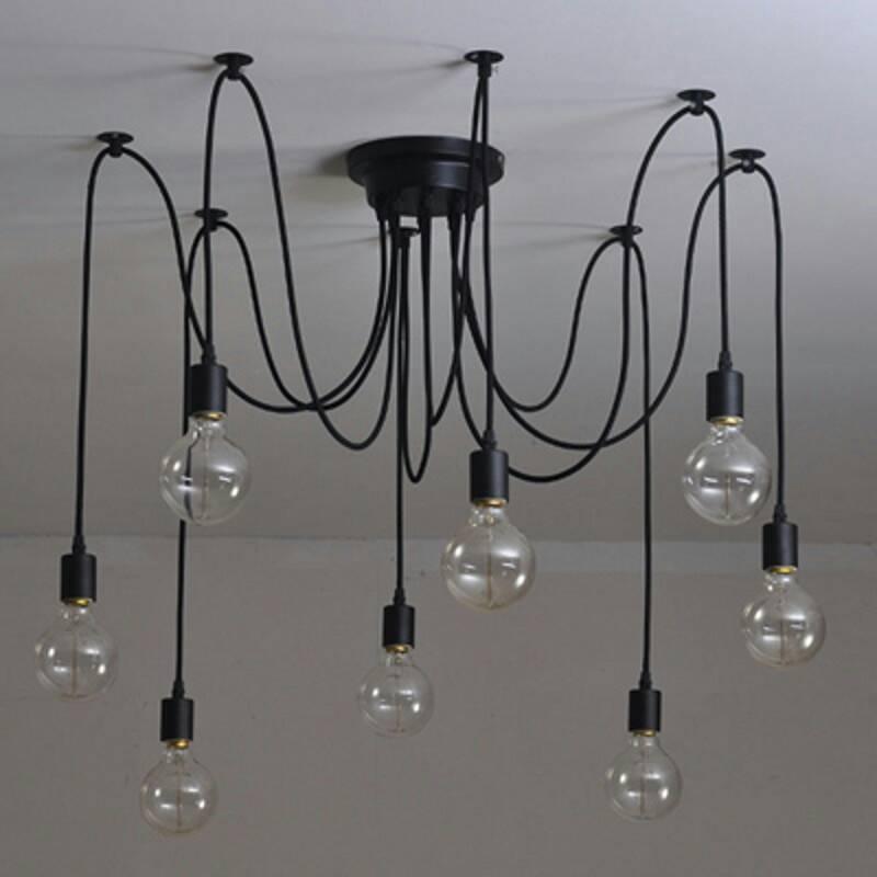 8 head spider ceiling light.