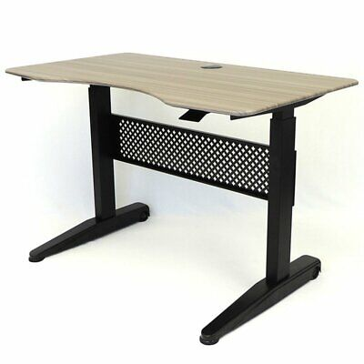 Boss Office Carnegie 47 Adjustable Height Standing Desk In Driftwood