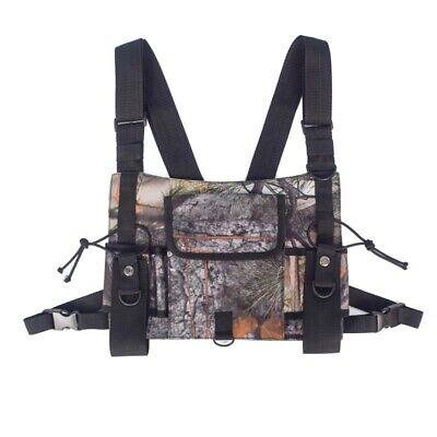 Radio Chest Harness 2-way Walkie Talkie Holster Holder Vest Chest Rig Pack Bag