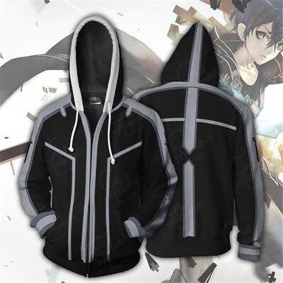 Sword Art Online Kirigaya Kazuto Hoodie Kirito Cosplay Costume Sweatshirt - Costumes Online