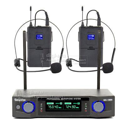 Wireless Earset Earhook Microphone System Power Amplifier PA Speaker Audio Mixer Wireless Headset Microphone Powered Speaker