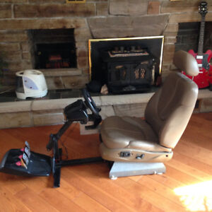 Game console seat and wheel