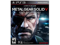 NEW PS3 METAL GEAR SOLID V GROUND ZEROES- GAME DISK