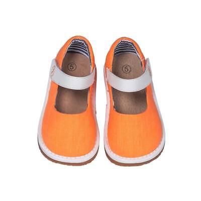 Clearance!! Girl's Toddler Orange Canvas Style Squeaky Shoes Sizes 3 to 7 Only!](Clearance Girl Shoes)