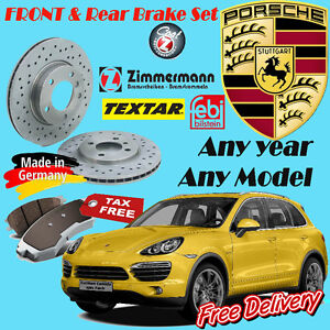 Porsche Brake Sets (Rotor/Pad/Sensor) Any year Any Model