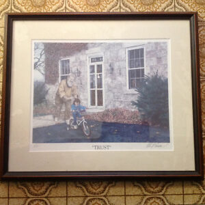 2 Albert casson prints , family and trust limited signed 40 doll Kitchener / Waterloo Kitchener Area image 3