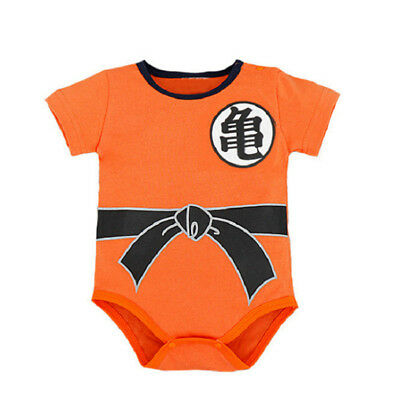 Dragon Ball Z Goku Romper Baby Infant Jumpsuit Overall Children Body Suit Outfit - Dragon Ball Z Suit