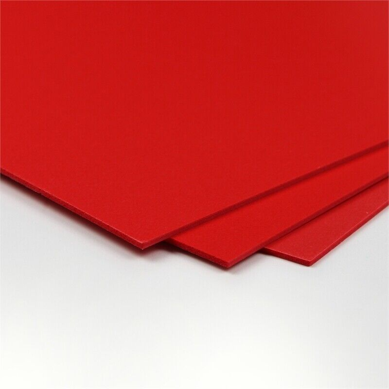 CraftTex Bubbalux Craft Board Heart Red 2 Packs of 3 Letter Size Sheets