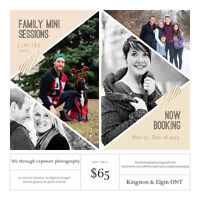 Christmas Card Mini Sessions - Only $65!