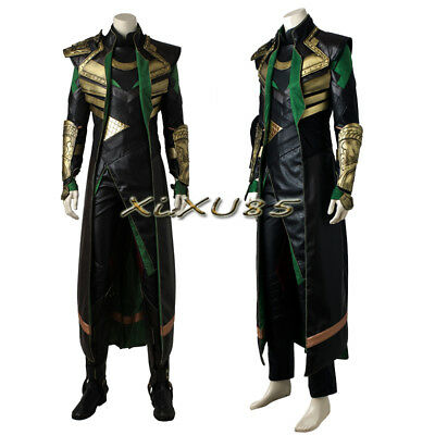 THOR The Avengers Ragnarok Loki Cosplay Costume Halloween Outfit Custom Made](Loki Halloween Costumes)