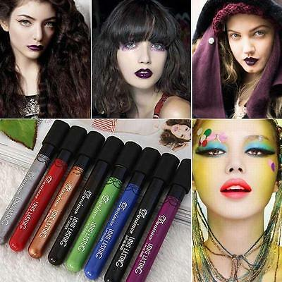 Vampire Style Purple Black  Lip Gloss Waterproof Velvet Matte Lipstick Lasting