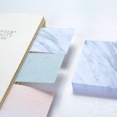 1pc 75 Sheets Marble Notepad Self Adhesive Memo Pad Sticky Notes School Supplies