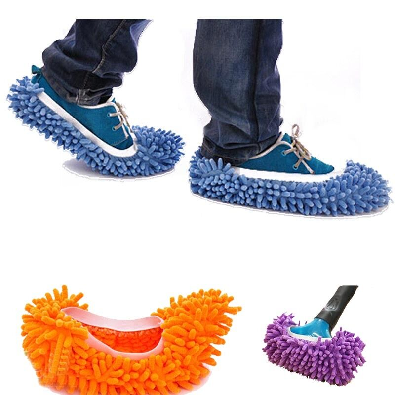 Single Chenille Mop Wipe Slippers Shoes Lazy Shoe Mop Caps Set Anti-slip Water m