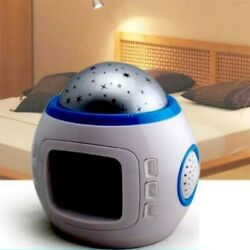 Multifunction Digital Alarm Clock Kid Music LED Star Sky Projection Lamp Casual