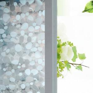Cobblestone 3D Static Cling Home Glass Window Film Decorative Window Sticker