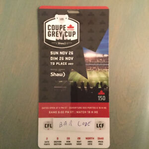 105th Grey Cup Ticket