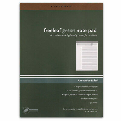 Levenger Freeleaf Recycled Annotation Ruled Pads- Letter