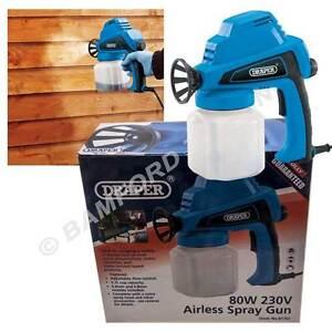 Draper Airless Electric Spray Gun Shed/Fence Preservative Stain Sprayer 230V 80W