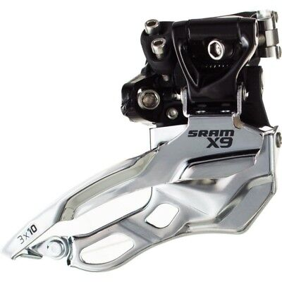 SRAM X9 2x10 Low Clamp Top Pull Front Derailleur RRP £45 34.9 /& 31.8mm