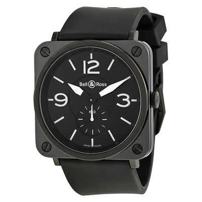 Bell and Ross Aviation Black Ceramic Watch BRS-BL-CER-SRB