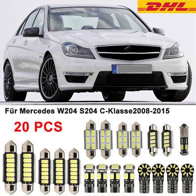 20x SMD LED Innenraumbeleuchtung komplett Canbus Für Mercedes W204 S204 C-Klasse