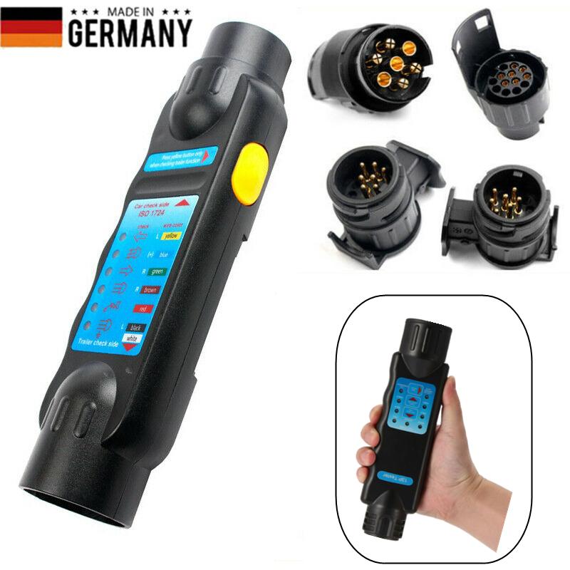 Prüfgerät Anhänger Tester 7-13 Polig 12V Trailer Beleuchtungstester Prüfer KFZ