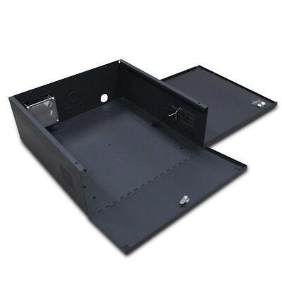 Heavy Duty 16 Gauge Steel NVR & DVR Security Lock box with Fan, 21X21X8 ()