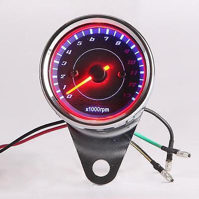 12V Custom LED Backlight Motorcycle Tachometer Speedometer Gauge 0~13000RPM