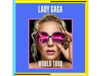 2x Lady gaga joanne world tour tickets
