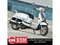 SYM FIDDLE 200cc SAVE £500 Modern Retro Classic Automatic Scooter For Sale