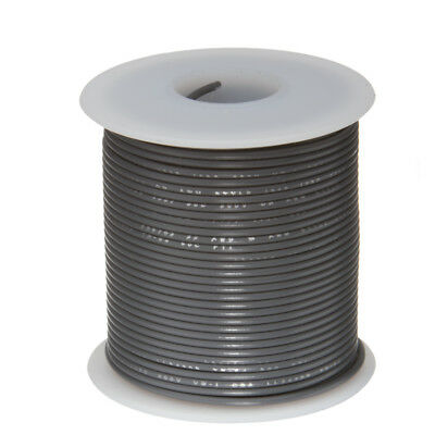 30 Awg Gauge Stranded Hook Up Wire Gray 25 Ft 0.0100 Ptfe 600 Volts