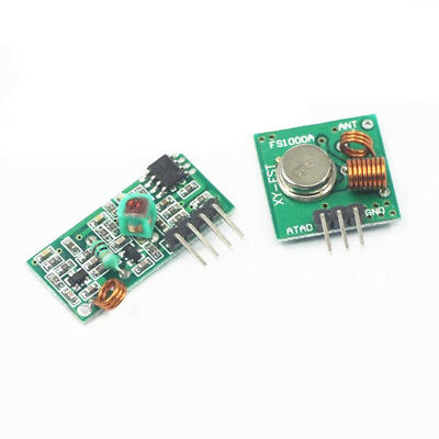 1x New 433mhz Rf Transmitter Module And Receiver Link Kit For Arduinoarmmcu Wl
